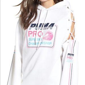Fenty Puma Rihanna side white laced surf 🌊 hoodie